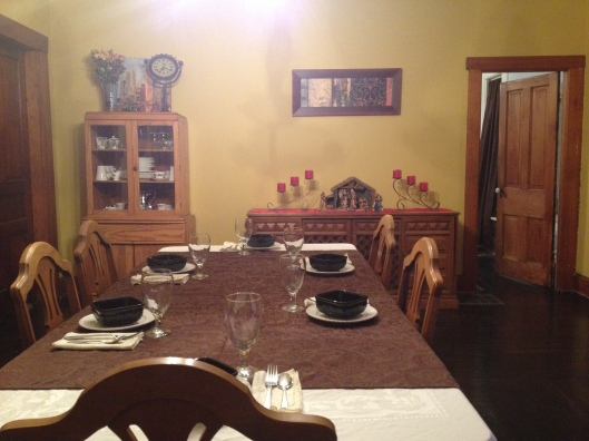 I don't seem to have any before dining room photos, so here are two after shots.